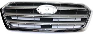 Plastic Silver Grille Assembly for 2015-2016 Subaru Legacy SU1200162
