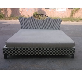 2019 New Design King Or Queen Bed Frame Rattan Bedroom Set Aluminium Daybed Indoor Product On