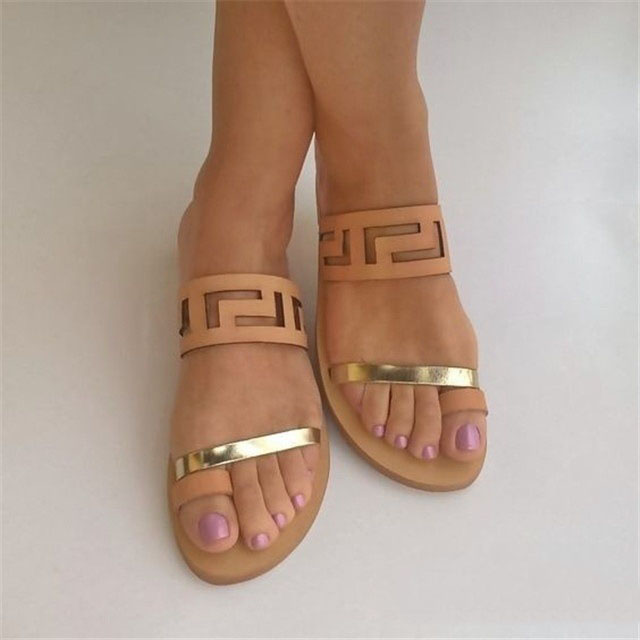 Wholesale Elegant Women Open-toe Flat <strong>Sandals</strong>