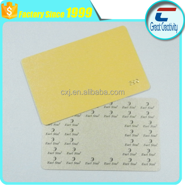 Credit card size embossed serial number gold pvc plastic cards/signature panel for pvc cards