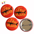 custom pin button badge metal tin badge buttons