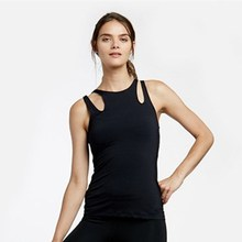 new style activewear wholesale shoulder hallow out gym tank top