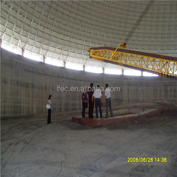 classic design space frame ball for dome coal storage