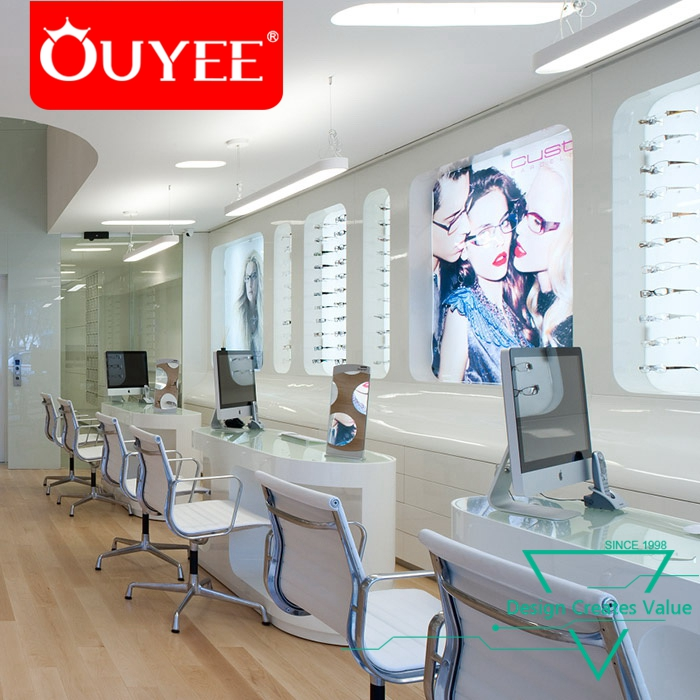 Top Quality Showroom Modern Optical Shop Names Display With Counter