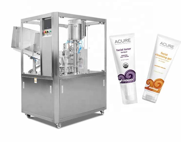 YTK brand automatic ultrasonic plastic toothpaste, cream tube filling and sealing machine