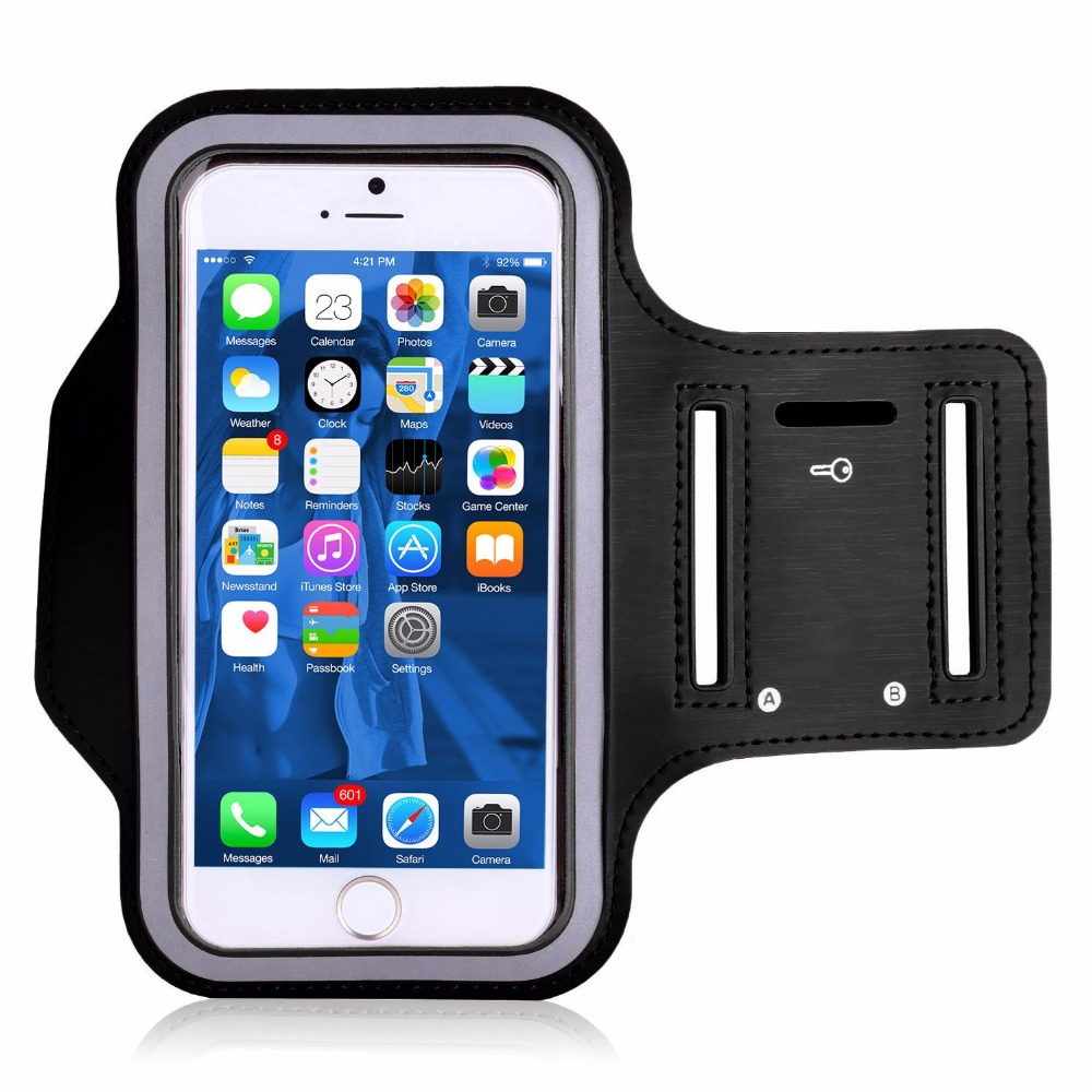 Water Resistant Cell Phone Sports Armband for iPhone 7 Plus 6s Plus 6 Plus, For Samsung Galaxy S4 Waterproof Case