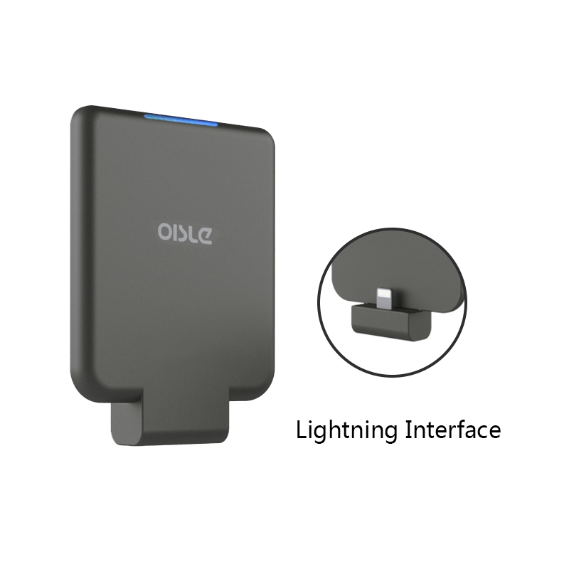 OISLE Palm-sized LED Power Bank Charger Quick Charge External Battery Charger for iPhone/Samsung