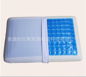 Comfort Summer Silicone Ice Visco Memory Foam Cool Ice Gel Cooling Pillow,traditional gel pillow