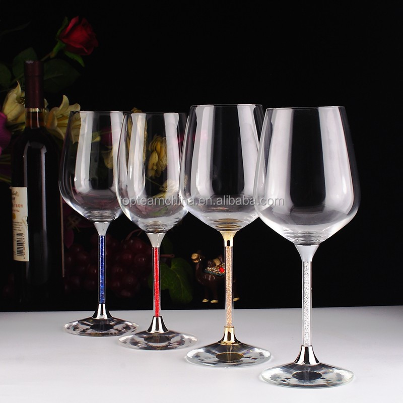 Chirstmas Gifts White Colored Wine And Water Goblets Buy
