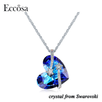 Eccosa stars titanic heart of ocean pendant heart necklaces made eccosa stars titanic heart of ocean pendant heart necklaces made with crystals from swarovski aloadofball Image collections