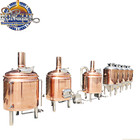 Red copper 3bbl micro home beer brewing equipment for hotel