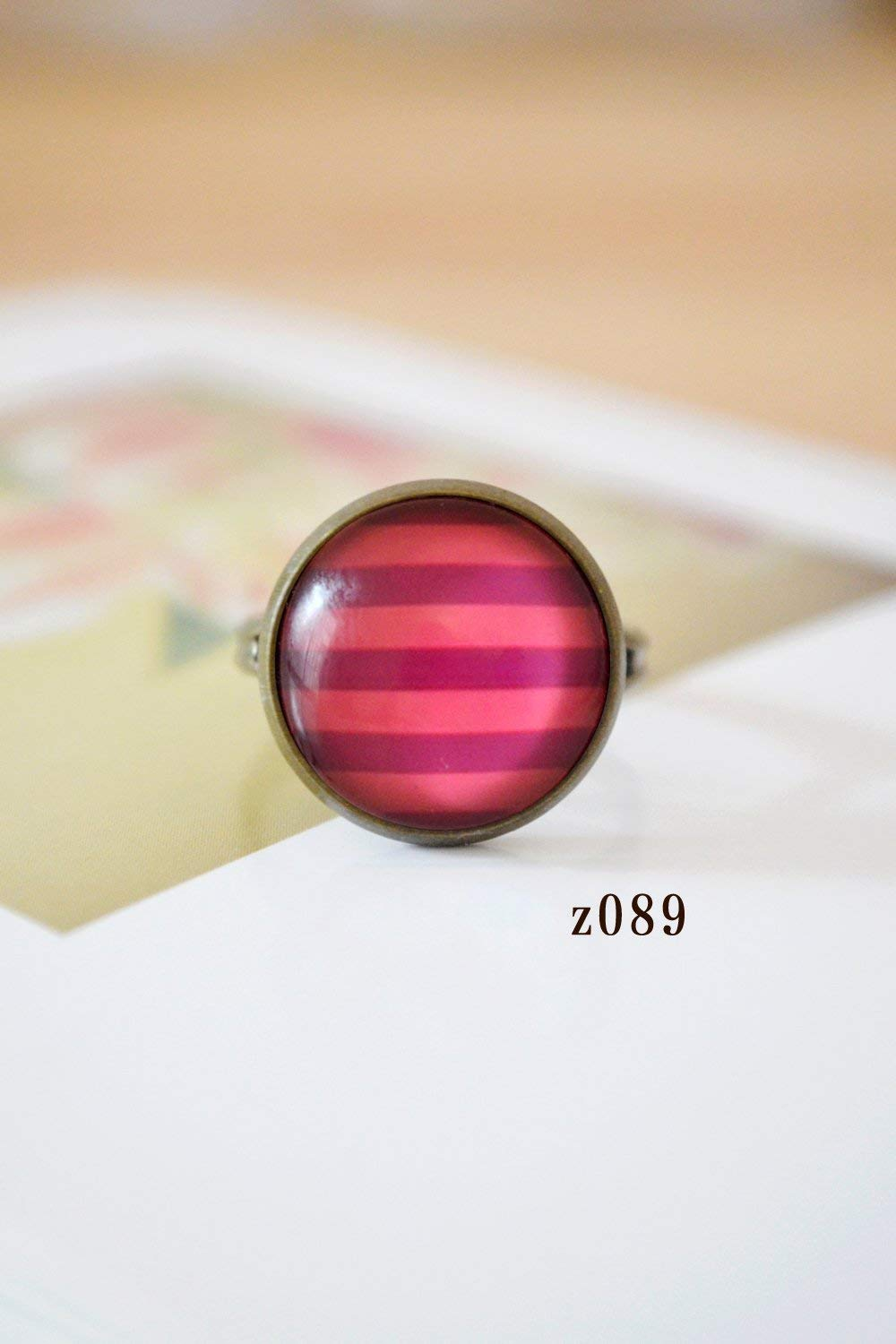 (Buy Two get one Free) Rainbow Stripes Plaid Ring (Style z089
