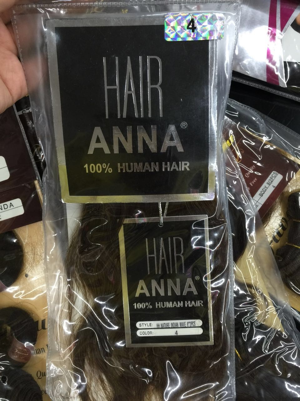 ANNA Indian hair extension HH NATURE INDIAN WAVE natural color 100gram hair length 8-10""