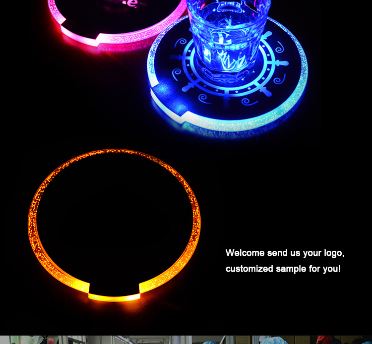 custom flashing led bottle sticker