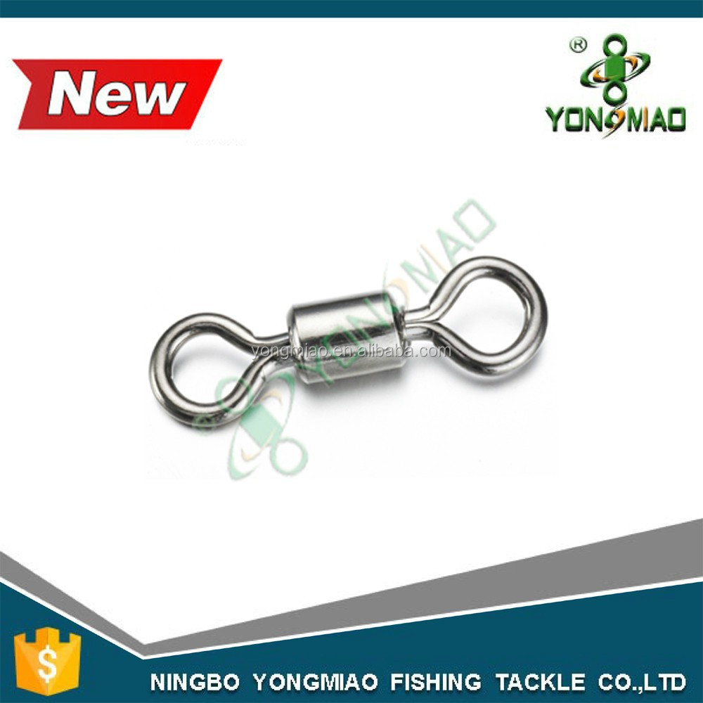 High quality stainless steel high strength mini fishing swivels free fishing tackle samples