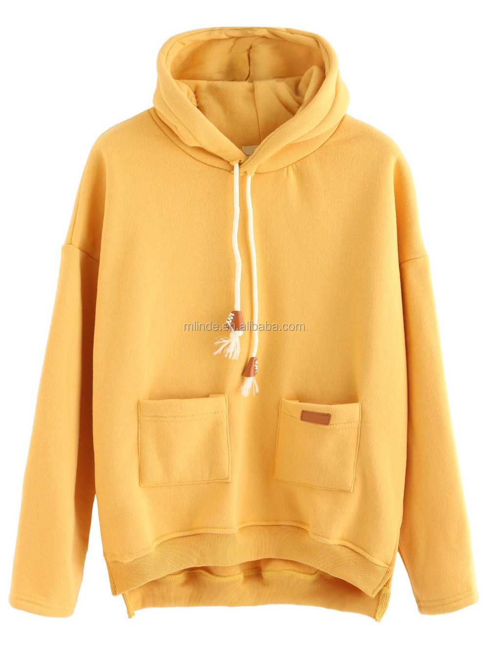 Design Your Own Hoodie Yellow Slit Side High Low Hooded Sweatshirt Custom  Made Sublimation Print Hoodie Women 4d65bf422