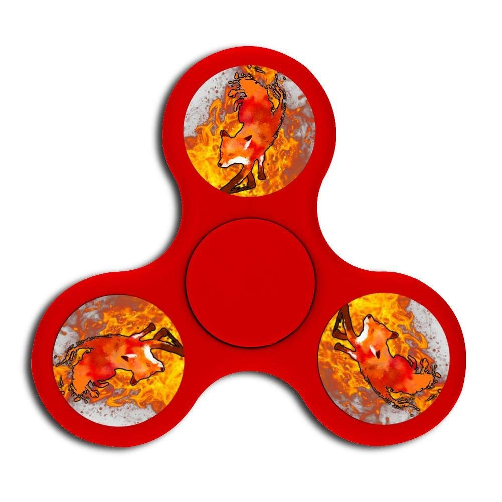 Vulpes head Fidget Spinner, hand rotation stress and anxiety relieve toys, treat ADHD, autism and ADD, promote calm clarity and focus Red