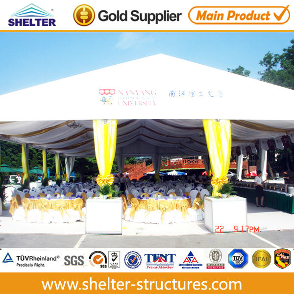 123 40x50m outdoor big exhibition tents with transparent ABS wall for 112th canton fair made by guangzhou shelter manufacturer
