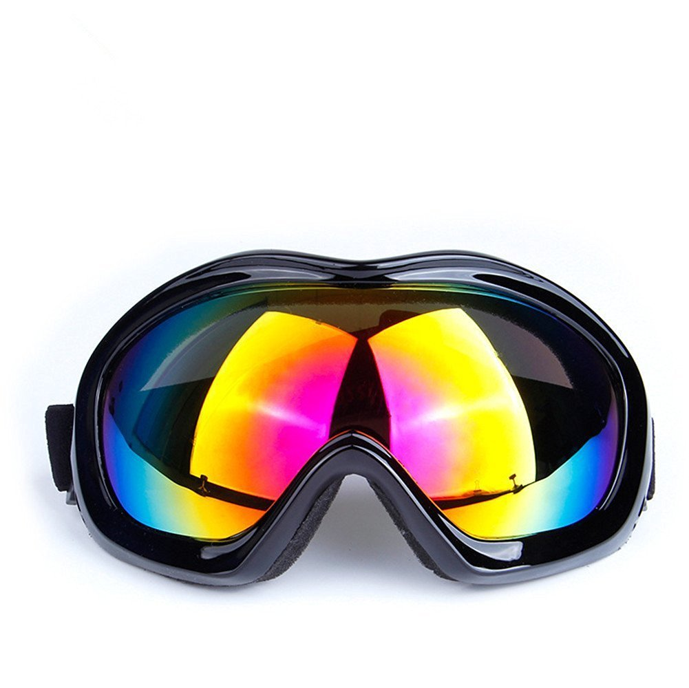 f61b550c97 Get Quotations · Generic Snow Googles Windproof Motorcycle Snowmobile Ski  Goggles Blocking OUT UVA UVB UVC