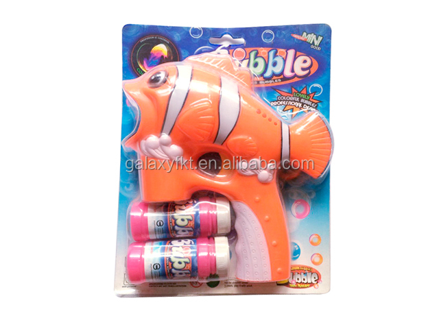 Electronic fish led blowing bubble gun toys
