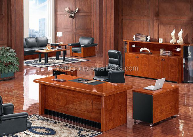 Vintage bureau de direction en bois bureau en bois de luxe bf