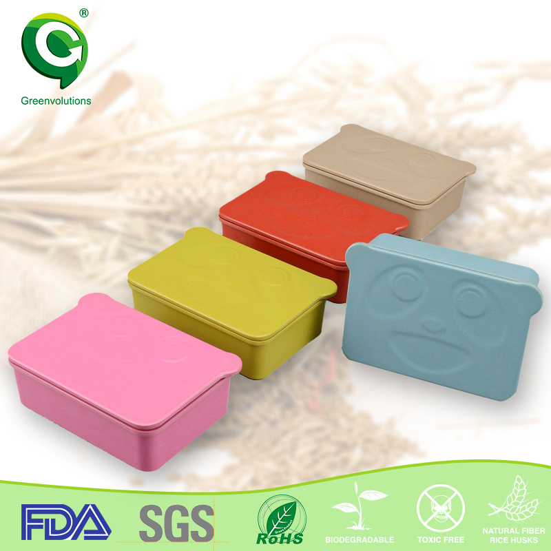 BPA free non-toxic biodegradable recycle paper 3 compartment lunch box