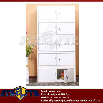 Self Embly European Style Furniture Metal White Pedestal Cabinets Stackable Storage Cabinet Bo