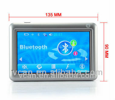 5 Inch touchscreen GPS navigator with multimedia features with game function