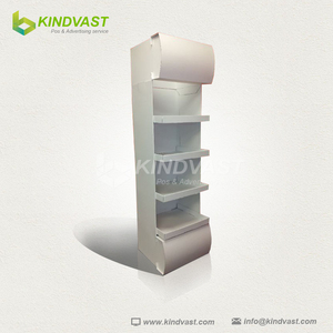 4 shelves Paper Material cardboard floor display with led light