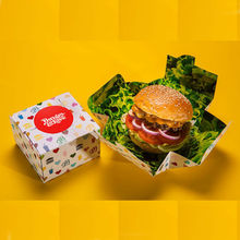 hamburger box,foldable hamburger box,folding burger box