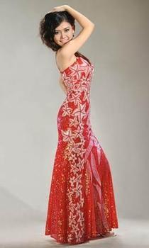 Beaded Evening Dress Gown