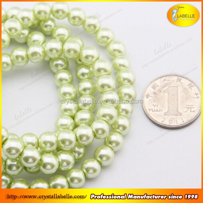 Pearl Strands Faux Pearl Beads Glass