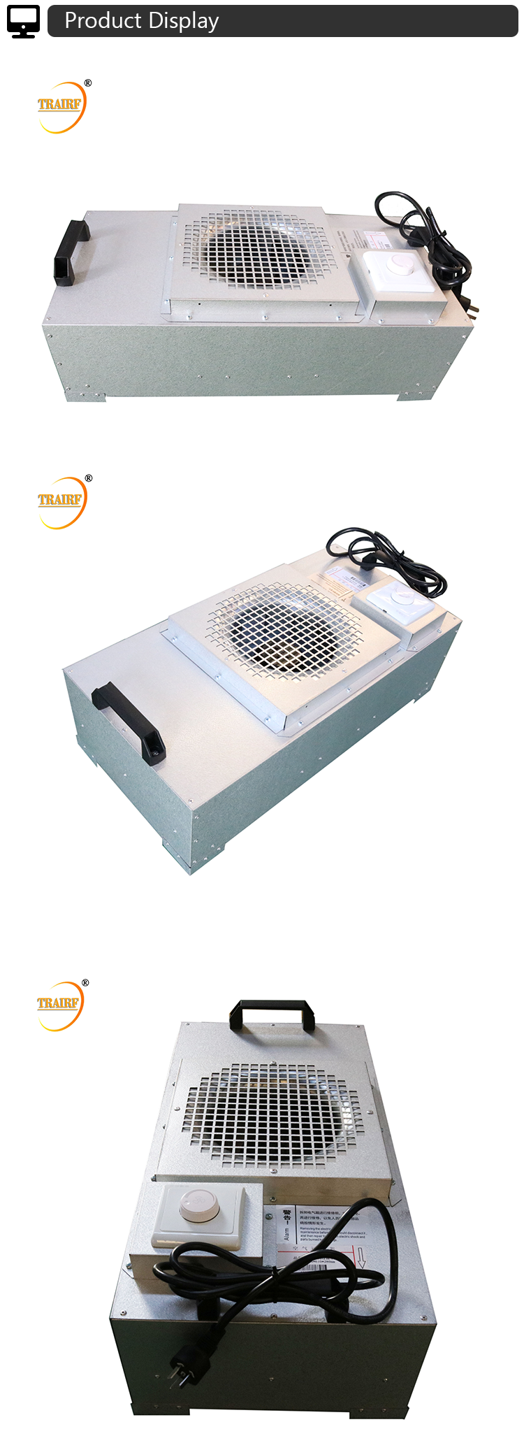 High Quality New Condition FFU Hepa Fan Filter Unit for Clean Room
