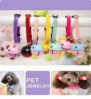 Fashion Cat Collar Dog Collar With Bell Pet Jewelry Dog Accessories Wholesale Best Selling Products Dog Products For Pet Store