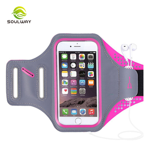 Custom professional exercise adjustable fabric universal jogging armband for phone holder
