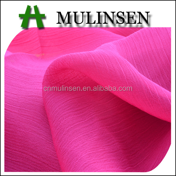 Mulinsen Textile High Quality 100% Polyester 75D Solid Dye Soft And Thin Crepe Chiffon Fabric