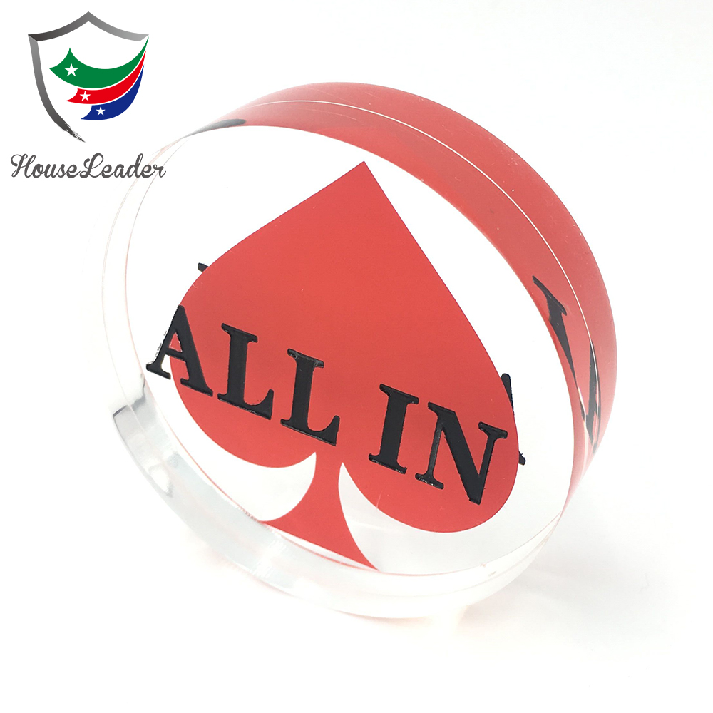 70mm Acrilico TUTTO IN Puck, Texas Hold'em ALL IN Button