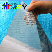 1.52m*50m white and clear film one way vision self adhesive and removable