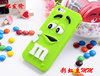 Lovely 3D cute M&M Chocolate jelly Bean Silicon cartoon Case for iphone 4 4s iphone4,300pcs/lot