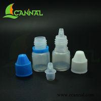 2ml LDPE E Cig Liquor Bottle with tamper cap & short dropper