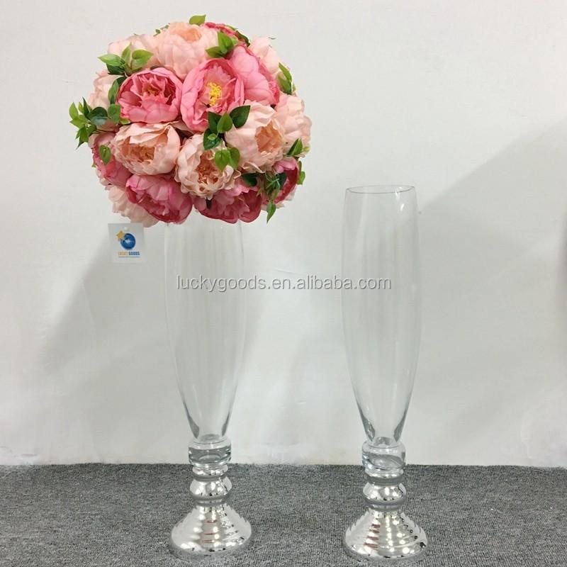 Lhp019 Unique Glass Vases Wedding Centerpiece Event Glass Vase