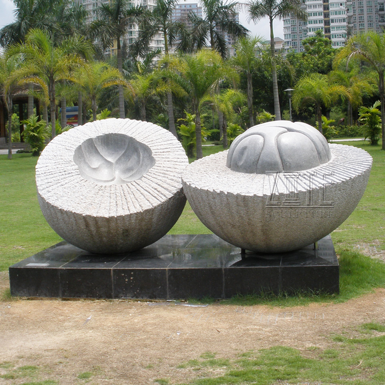 Outdoor decoration custom large marble fruit statue