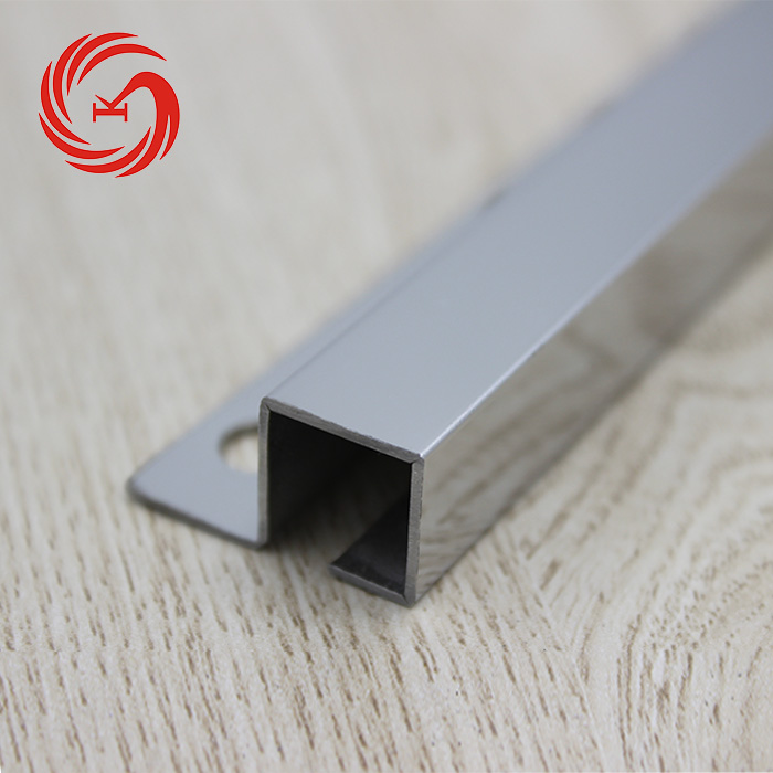 Skillful Manufacture End Cap Square Edge Tile Trim Stainless Steel
