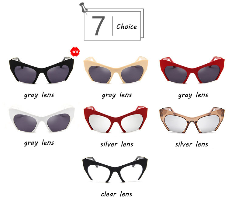 KLY5163 wholesale hot fashion trend  men and women cateye sunglasses 2020