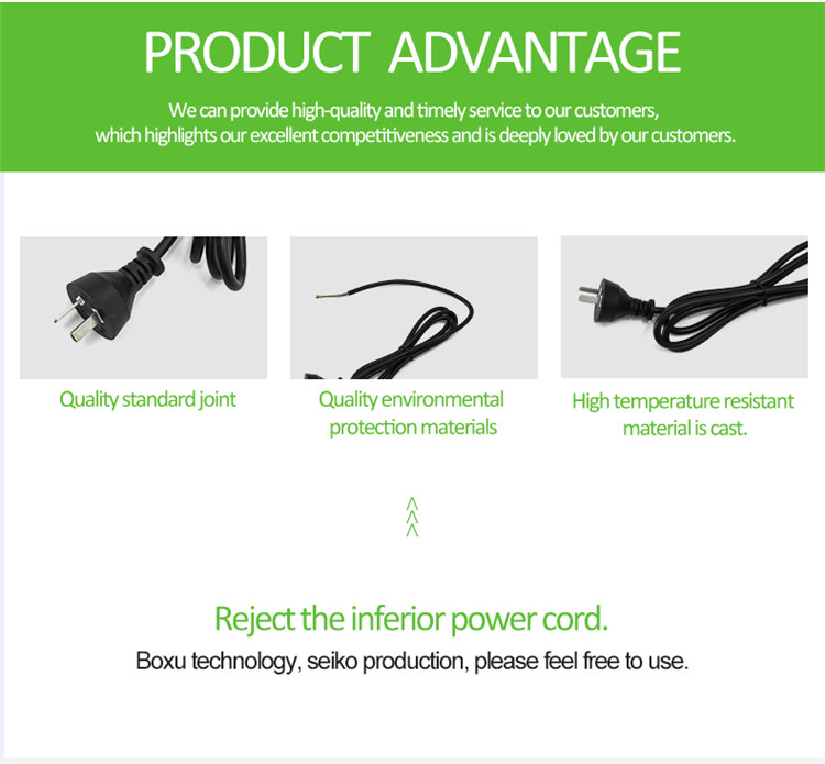 VDE/UL özel uzunluk 18awgx2c güç kablosu PVC saf bakır düz tel güç kablosu kablosu japonya güç kablosu