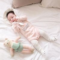 2019 everyday wear 100% cotton baby girl clothes newborn romper with lace sleeve