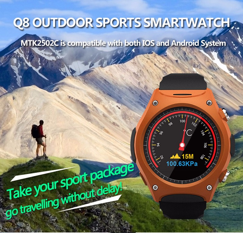 high quality 1.54 square IPS screen smart watch q8 support android IOS OEM & ODM factory