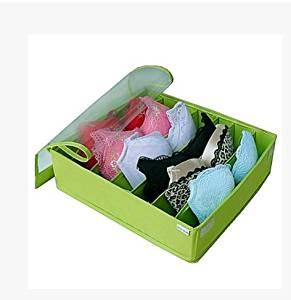 Washable Oxford Cloth Transparent Cover Underwear Bra Storage Box