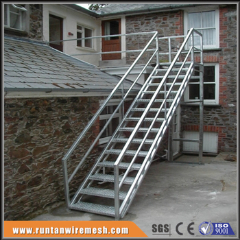 Galvanized Floor Grating Industrial Metal Stair Step Ladder