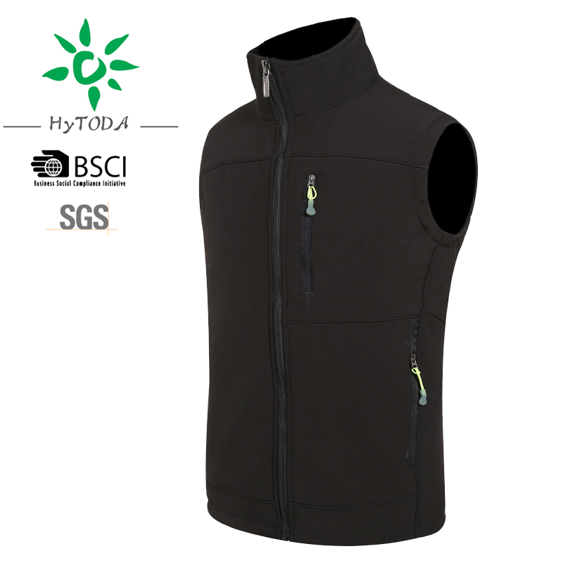 Embroidery logo fishing vest and hunting vest waterproof black man tactical vest